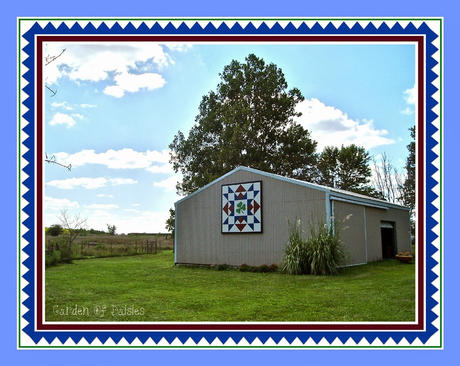 Garden of daisies quilt barns for Garden shed quilting