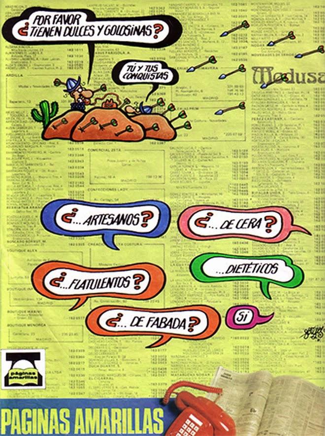 Páginas amarillas Publicidad de los años 80