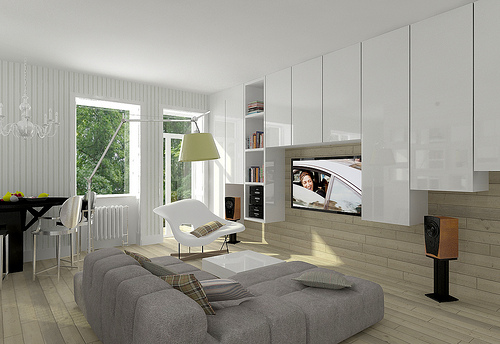 Decora y disena 4 salas para espacios peque os for Salas y comedores para espacios pequenos