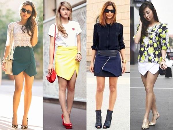 Wrap Mini Skirts
