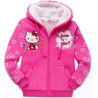 Contoh Model Jaket Hello Kitty Anak Perempuan