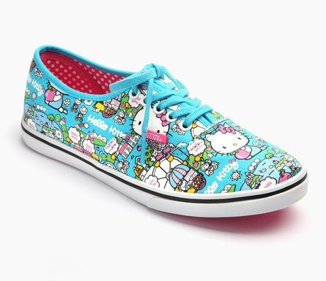 Cute VANS x Hello Kitty Authentic Lo Pro Blue
