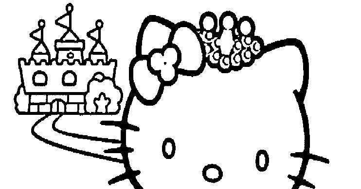 hello kitty princess coloring page to print high resolution