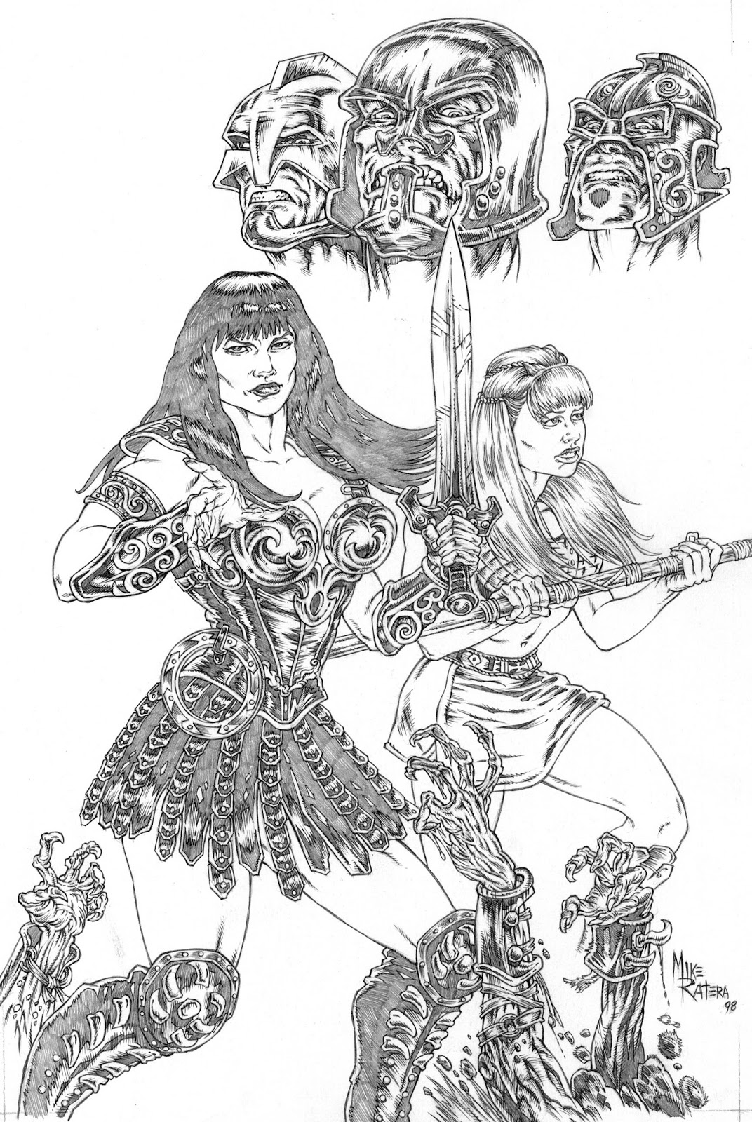 Mike ratera artblog old stuff xena x files Xena coloring book