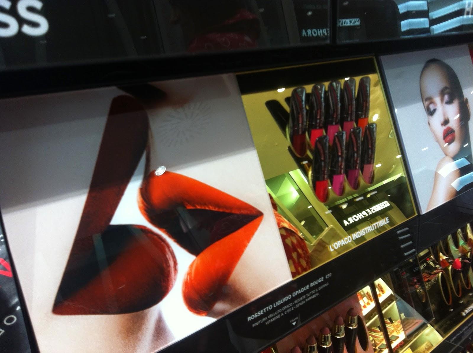 hourglass cosmetics italia sephora, opaque rouge liquid lipstick, brian & barry building sephora milano