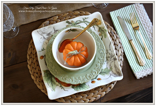 Fall Dinnerware-French Country- Farmhouse-Fall Dining Room-From My Front Porch To Yours