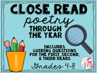 Close Read A Poetry Through The Year with Ideas by Jivey.