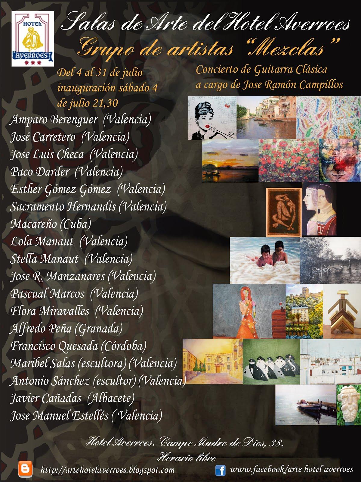 """Julio: Exposición Colectiva de pintura y escultura """"Mezclas""""."""