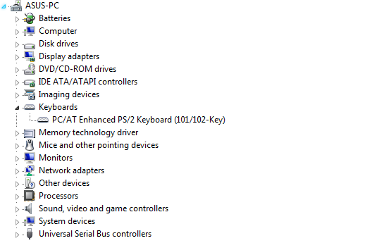 device manager laptop