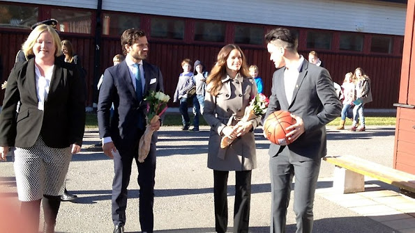"Prince Carl Philip and Princess Sofia of Sweden attended the opening of ""Sports Without Borders"" activities in a school in Norrtalje, Sweden"