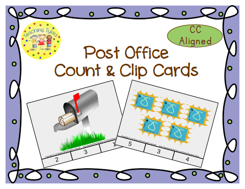 http://www.teacherspayteachers.com/Product/Post-Office-Count-Clip-Cards-Common-Core-Aligned-902899