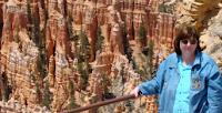 Author Vickie McDonough at Bryce Canyon