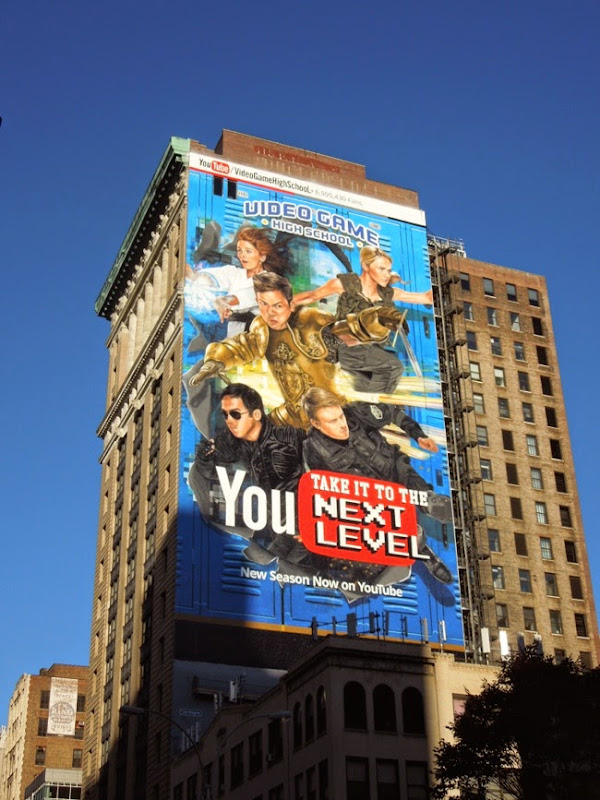 Giant Video Game High School YouTube billboard NYC