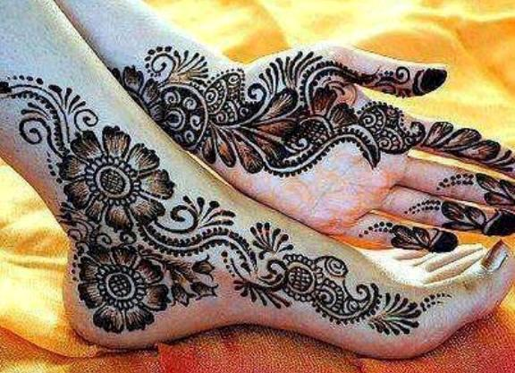 Mehndi Designs For Feet : Foot legs mehndi designs new collection life style