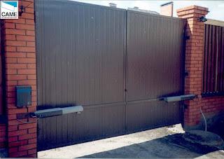 Автоматические распашные ворота в Туле ООО Деловая крепость 8-953-437-08-08