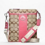 Pink Coach Sutton Signature Swingpack