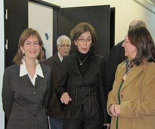 Visita Pilar del Rio en la Saramago