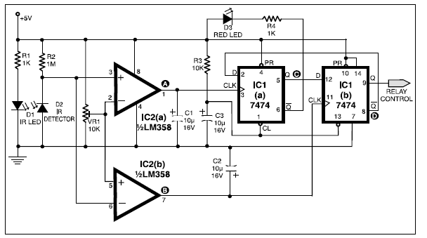 automatic bathroom light basic electronics project basicthe circuit also indicates whether the bathroom is occupied or not the circuit uses only two ics and can be operated from a 5v supply