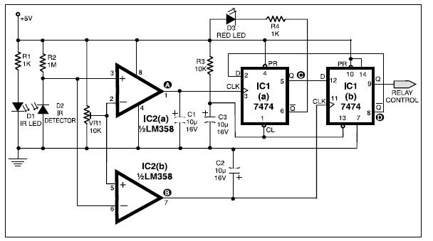 Automatic Bathroom Light Basic Electronics Project