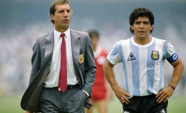 Carlos Salvador Bilardo y Diego Armando Maradona.