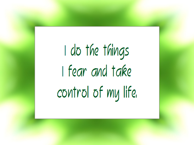 FEARLESS affirmation