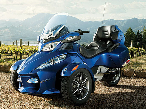 2012 Can-Am Spyder RT-S Review Motorcycle Photos, 480x360 pixels