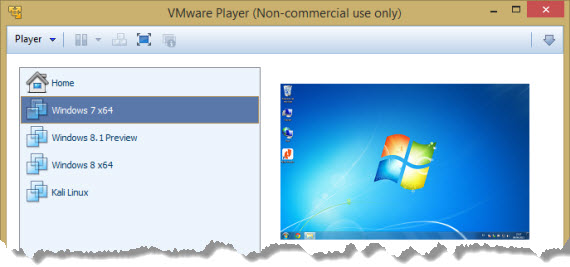 Disponible VMware Player 6