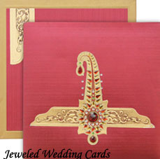 Jeweled Wedding Cards