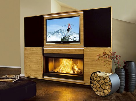 fireplace and TV stand layout ideas