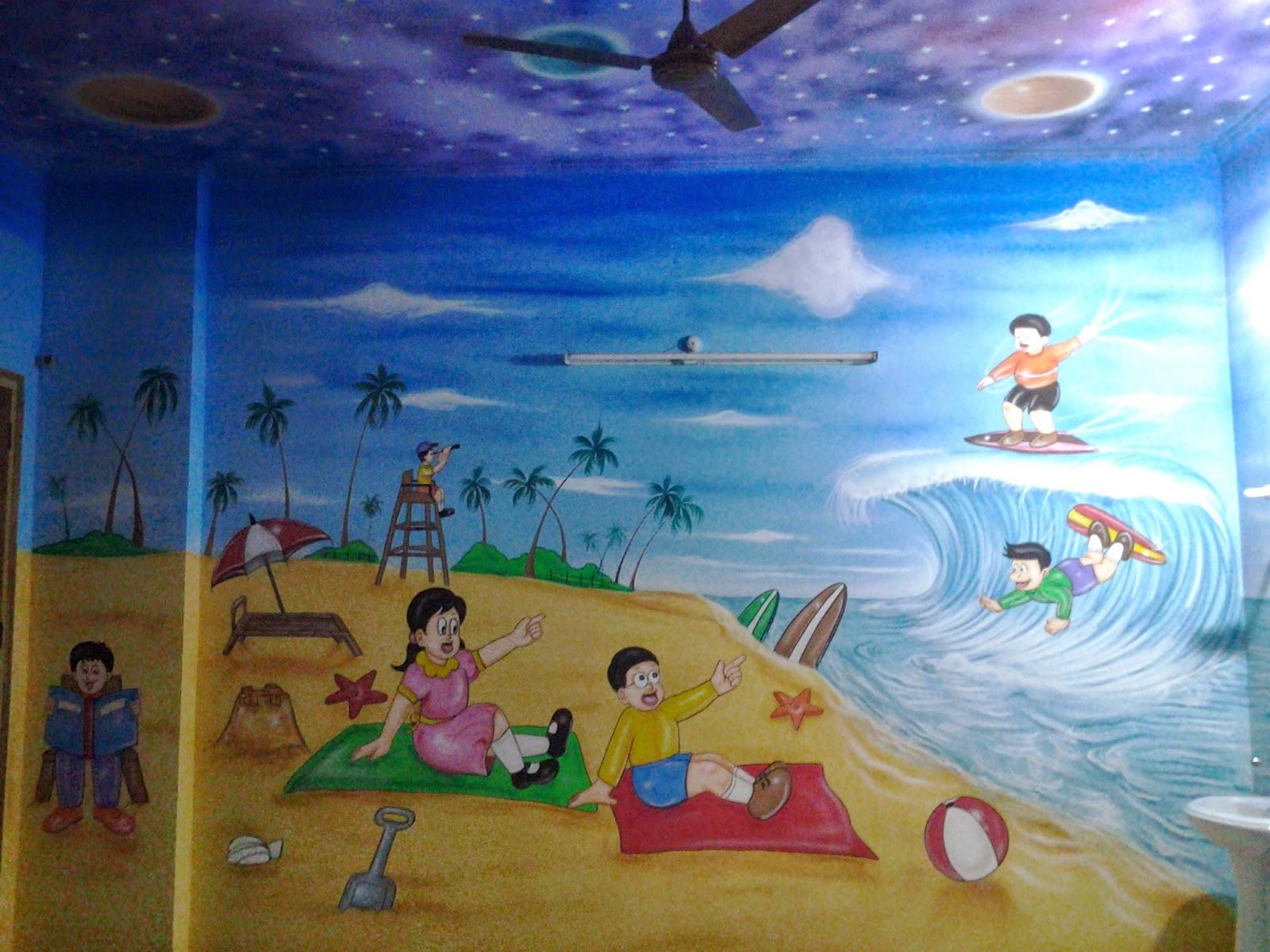 PLAY SCHOOL WALL PAINTING CARTOON PAINTING KIDS ROOM PAINTING 2014