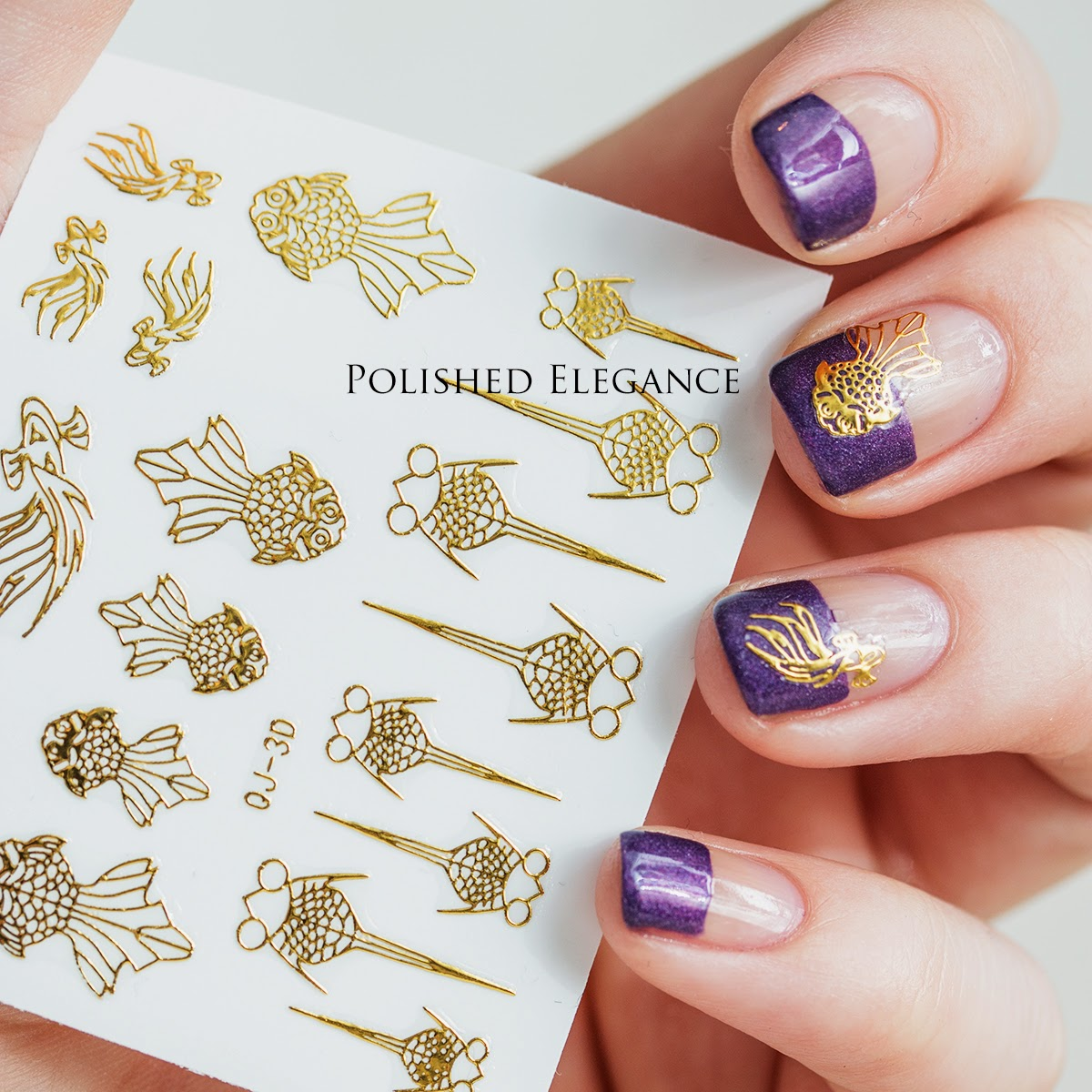 Purple negative space manicure for Facial Palsy Week - Cadillaquer - Cap'n Cook