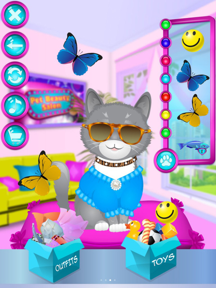Pet Beauty Salon App iTunes App By Ninjafish Studios - FreeApps.ws