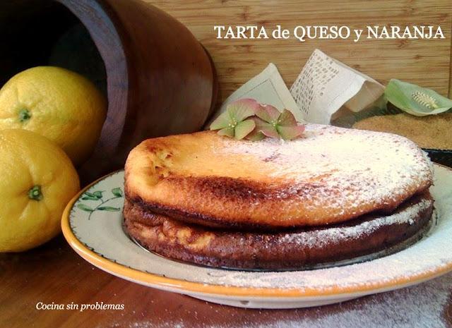 Tarta De Queso Y Naranja.