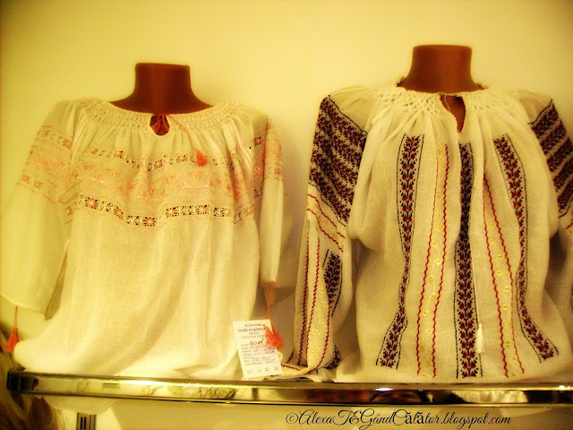 """24 iunie - Ziua Universală a Iei """"Ia * is a blouse, a component of the romanian traditional costume worn by women. The blouse is made of white cloth, cotton cloth, embroidered with silk or linen. It is adorned with embroidery motifs, romanian especially, from popular traditions, on the sleeves, chest and around neck. Some of them are adorned with beads or sequins."""" """"Ia* este o bluză, componentă a costumului tradițional românesc, purtată de femei. Este confecționată din pânză albă de bumbac, in sau borangic. Este împodobită cu broderii în motive populare românești mai ales la mâneci, pe piept și la gât. Unele ii sunt împodobite și cu mărgele sau paiete."""" click to read more on Wikipedia/e-media"""