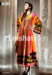 Long Frock with Anakali Pattern
