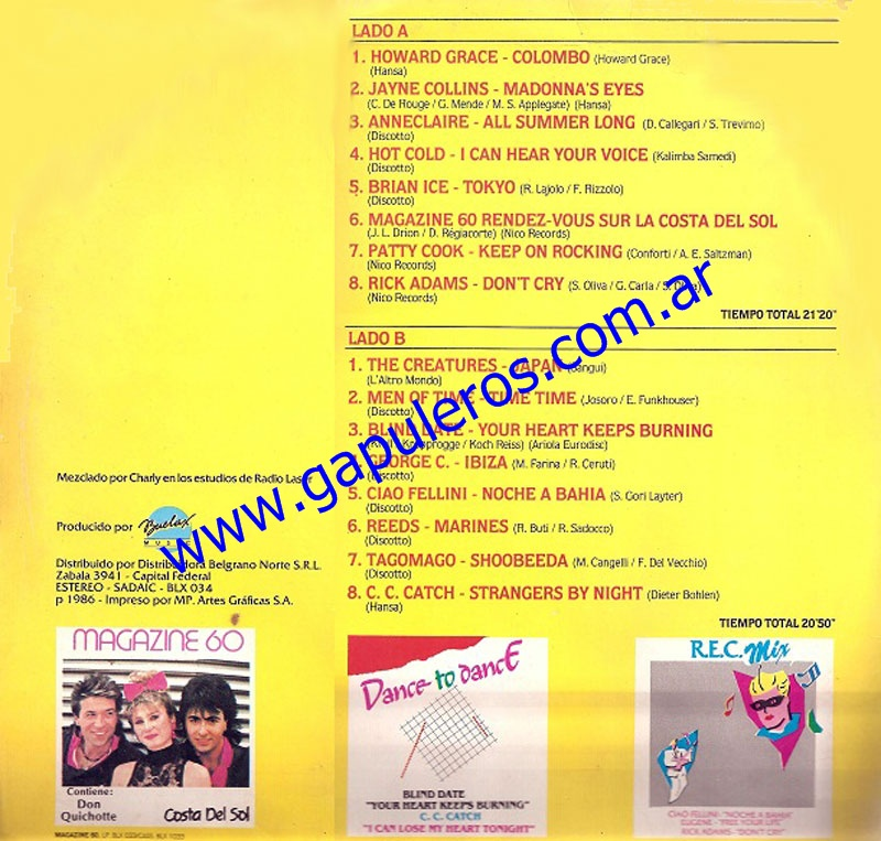 Buelax Discografia: Lo Mejor Del Verano 86'