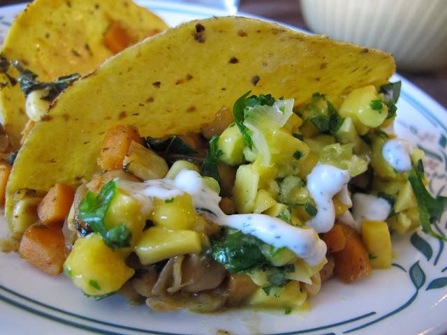 Sweet Potato Taco with Mango Salsa