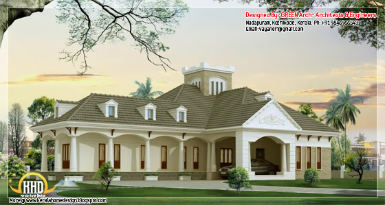 2900 square feet, 3 bedroom single floor luxury home design