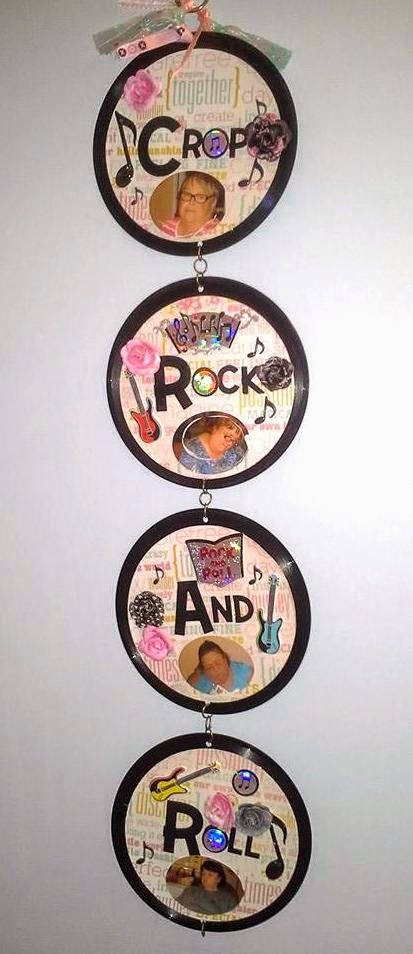 upcycled records wallhanging
