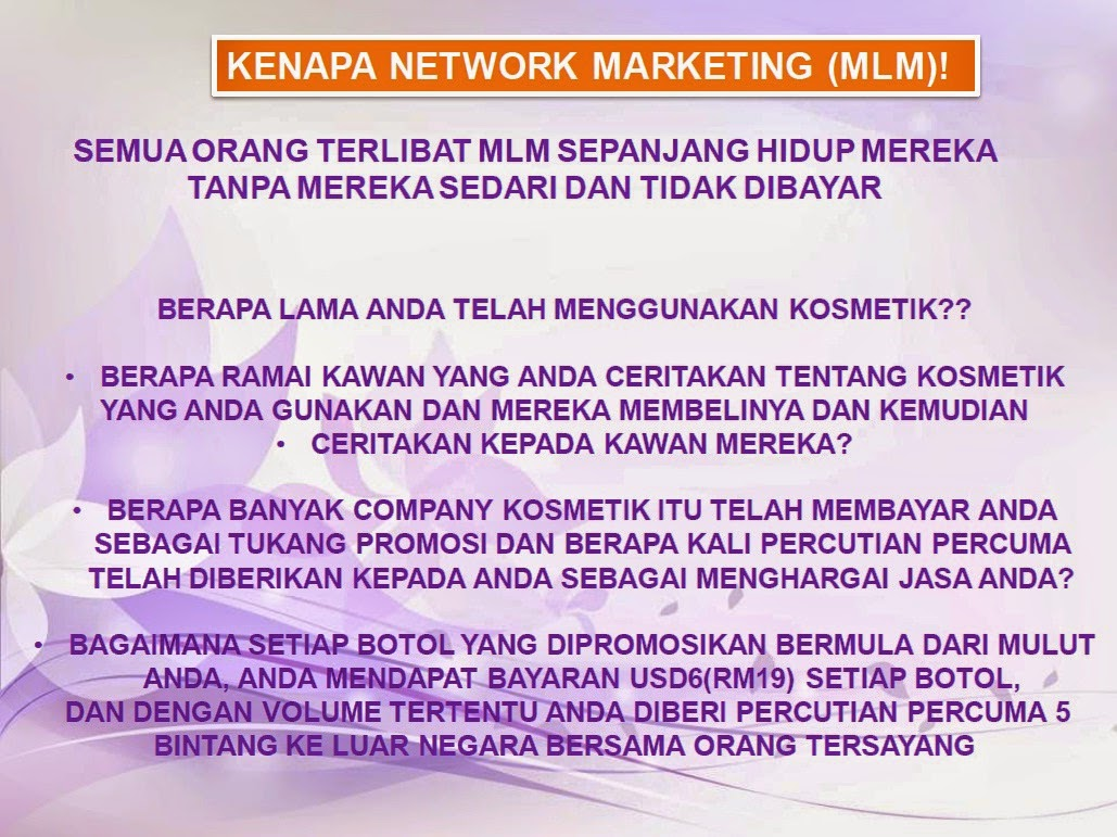 KENAPA NETWORK MARKETING