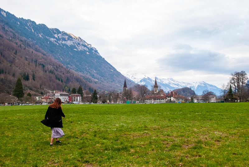 perfect view of interlaken switzerland