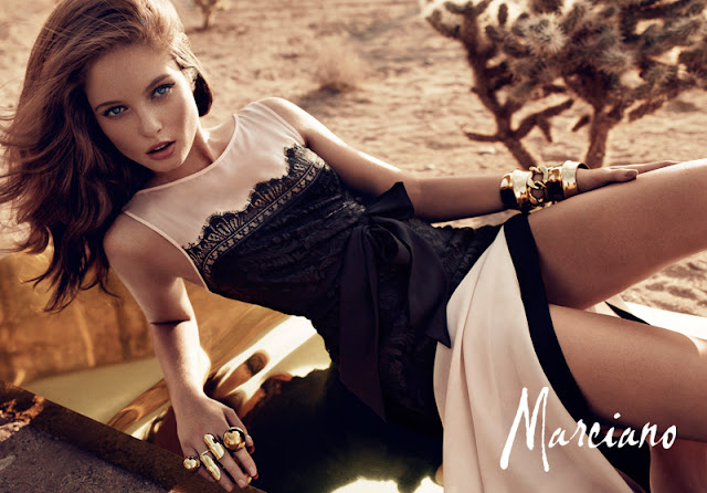 Marciano's holiday collection, campaign images styled by Martina Nilsson