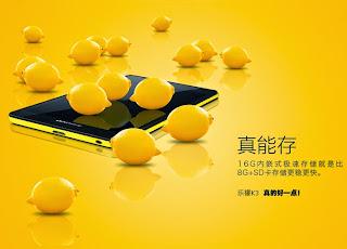 spesifikasi lengkap lenovo k3 lemon