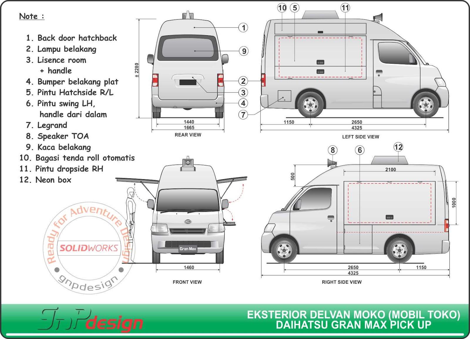 Gnp Design  Moko  Mobil Toko    Warling  Warung Keliling