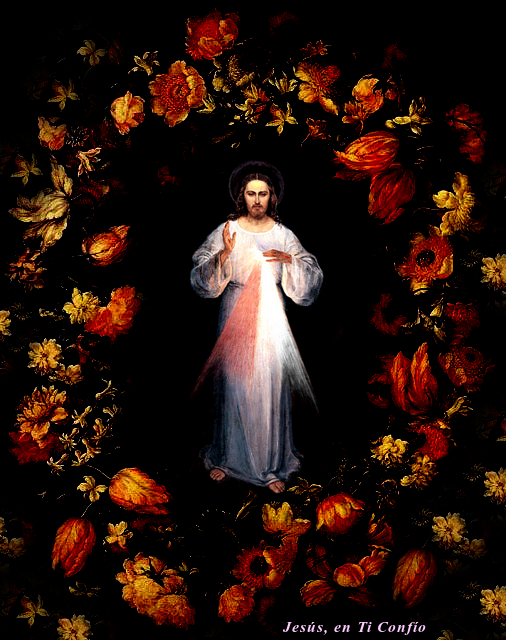 Jesus entre flores