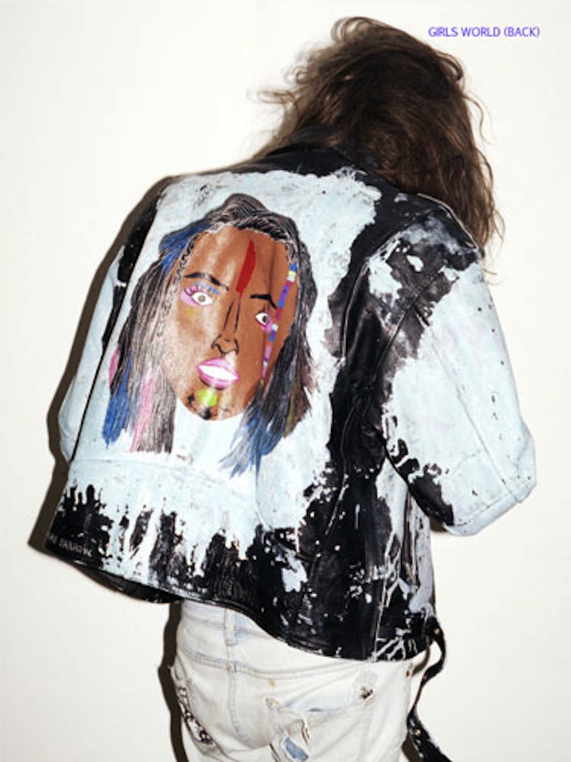 Painting leather jacket