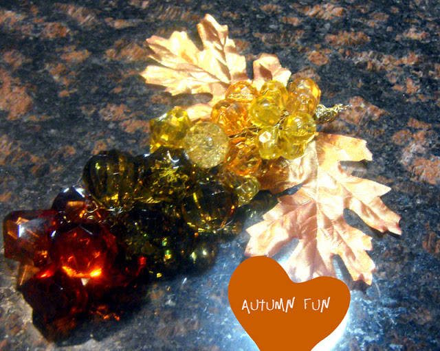 fall beaded decor