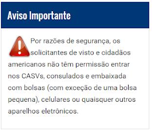 CASVs, Consulados e Embaixada Americana