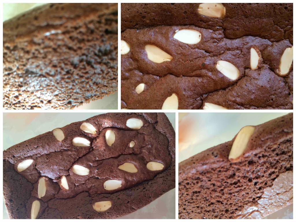 Bizcocho de harina de avena sabor chocolate