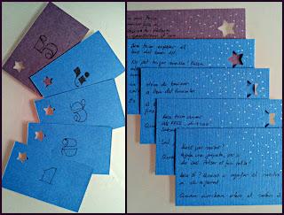 tarjetas, pistas